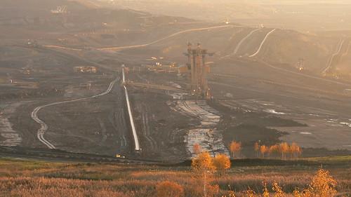 Brown coal quarry
