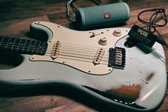 Wohnzimmermusik (shortscale) Tags: jbl flip3 vox amplug ac30 sunn mustang guitar guitarlove