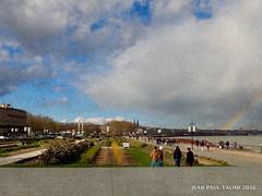 L'arc en ciel urbain (JEAN PAUL TALIMI) Tags: bordeaux talimi texture touristes gironde solitude sudouest nuages ville france quai vent bleue aquitaine d ciel extrieur arcenciel