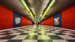 forms and colours (K.H.Reichert) Tags: mnchen architektur ubahnmnchen ubahn train nachtfoto architecture railway night subway station josephsburg bayern deutschland de