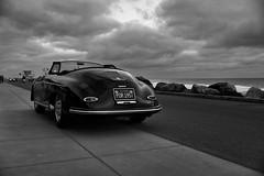 POR 1957 (autobahn66.com) Tags: porsche autobahn madeingermany postwar clouds dramatic luxury sportscar convertible black ocean pacific california driving acceleration