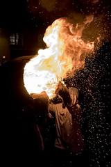 TB10 (Rockman of Zymurgy) Tags: ottetystmary devon uk tarbarrel tar barrels flame flaming fire crowd scorch barrel alight