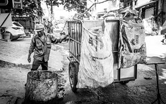 Collecting garbage (tumivn) Tags: garbage collectinggarbage street streetphotography vietnam saigon hochiminh
