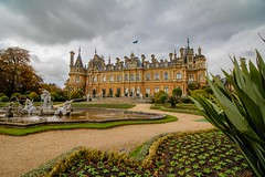 From the Garden (21mapple) Tags: garden waddesdon waddesdonmanor nationaltrust nt national trees tree trust tranquil canon750d canon canoneos750d canoneos clouds cloudy stately house home fountains fountain formal plants flag flowers water waterscape
