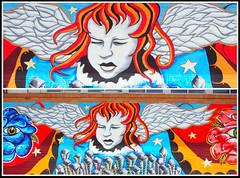 52 in 2016 Challenge - #4 - Graffiti (crafty1tutu (Ann)) Tags: challenge 52in2016challenge 4graffiti art angel colourful library wall wallart clever talent crafty1tutu olympusomdem5camera olympus1250lens microfourthirds anncameron bright picmonkey