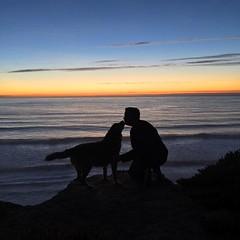 #bromance (seanflannagan) Tags: bromance dog brutus beach fortfunston sanfrancisco sunset ocean waves california