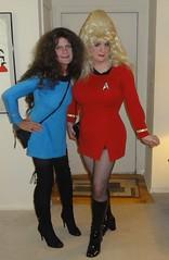 Star Trek Drag Queens (rgaines) Tags: costume cosplay crossplay drag startrek tos dragqueens halloween highheelrace kirk spock funny humor election yeomanjanicerand