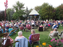 A good crowd (jamica1) Tags: salmon arm shuswap bc british columbia canada bandstand gazebo lawn chairs audience