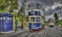 Crich Tramway Village 3 (Darwinsgift) Tags: crich tramway village tram museum national police box bygone old open air voigtlander 28mm f28 color skopar sl ii nikon d810 hdr photomatix blue
