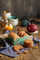 IMG_3149_exp (Helena / Rico sin Azcar) Tags: galletas cookies avena oats muesli frutossecos raisin chocolate nueces espelta