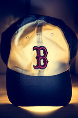 Red Sox for life (Moos W) Tags: redsox boston light hat caps baseball shadow desklamp strobe flash mooswu