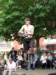 York Fire Eater (Ian Press Photography) Tags: york fire eater street entertainer entertainment yorkshire fireeater unicycle juggling juggler