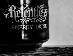 Photo (BadSoull) Tags: relentless can drink 2016 photo cherry black white collection energy