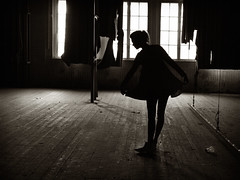 The last rehearsal (gyuri200) Tags: woman posing ballet dance graceful light shadow contrast bw