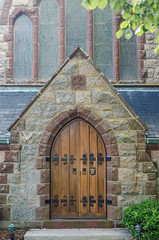 Chapel doors (GmanViz) Tags: gmanviz color nikon d7000 building church door entrance stone stbarnabas falmouth ma capecod