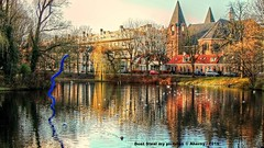 Noorderplantsoen,Autumn,Groningen stad,the Netherlands,Europe (Aheroy) Tags: groningen aheroy aheroyal noorderplantsoen noorderkerk colours kleuren pond vijver park church kerk painterly schilderachtig