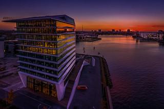 Porcellis Building Amsterdam Sunset