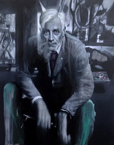 Gavin Nolan 'The Pedestal', 2016 Oil on linen 30x24cm