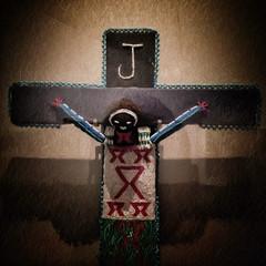Jeebus (Nad) Tags: thread beads death crucifixion southafrica black christ religion cross j jesus