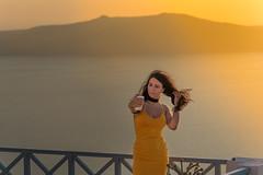 Beauty and gold (robertofaccenda.it) Tags: beach ciclades cicladi fotografiadistrada grecia greece holydays imerovigli mar mare playa praia santorini sea spiaggia streetphotography streetphoto sunset tramonto vacanze vacation