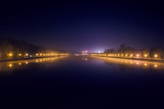 foggy night accused Plovdiv in his cold embrace (dontgiveacake) Tags: regata venue plovdiv night city light colors ambient flickrunitedaward