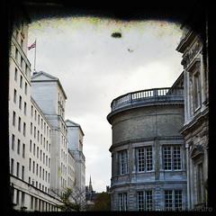London (Pauline Paultergeist) Tags: london self portrait walls architecture mirror skies clouds city