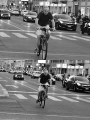 [La Mia Citt][Pedala] (Urca) Tags: milano italia 2016 bicicletta pedalare ciclista ritrattostradale portrait dittico nikondigitale mir bike bicycle biancoenero blackandwhite bn bw 907126