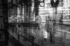 Bratislava (MattusB) Tags: woman walk walkside walking across glass kunsthalle bratislava 17november 17 november street streetphotography blackwhite monochrome monochromatic mono black white sony a6000 mirrorless sigma 30mm f14 contemporary c