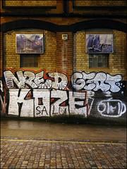 Nred / Gert / Koze / Obit (Alex Ellison) Tags: nred gert koze ybl obit night eastlondon urban graffiti graff boobs