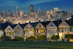Painted Ladies (Lee Sie) Tags: sanfrancisco city skyline bayarea northern california houses homes victorian architecture