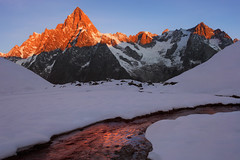 Grandes Jorasses at Sunrise (a galaxy far, far away...) Tags: sunrise peaks grandesjorasses mountain mountains nature naturallight robertobertero canon river water morning atmosphere mood otherworldly pointewalker outdoor adventure wilderness snow glaciers montblanc montebianco valferret valledaosta aostavalley malatr alps alpine alpi alpen montblancmassif mountainrange montagne cold alpineriver beautifullight mountainscape landscape alpenglow enrosadira