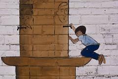 Murals pre GarGarFestival, a Penelles (Ramon Orom Farr [calBenido]) Tags: penelles lanoguera mur wall paret dibuix dibujo draw mural pintura art arte artist infantil colors colores colours catalunya espaa es painting planadurgell planadelleida lleida provnciadelleida catalua catalonia catalogne europe europa pasoscatalans font fuente fountain nen nio children child decay decaigut decaido style nikon d7100 tamron textura texture pelscarrers