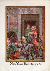 New Year's Day of long ago (katinthecupboard) Tags: vintagechildrensillustrations 1937 johnrae raejohn winter cold