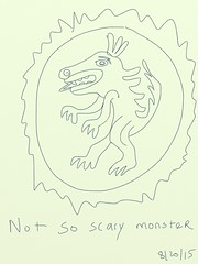 2015.08.20 Not so Scary Monster from Aztec feather shield of Emperor Ahuitzotl, 1486-1503 (Julia L. Kay) Tags: juliakay julialkay julia kay artist artista artiste knstler art kunst peinture dessin arte woman female sanfrancisco san francisco sketch dibujo daily everyday 365 mobileart mobile idraw isketch iart digital mda iamda mobiledigitalart ipad touchscreen fingerpaint fingerpainter touch tablet iphone idevice ithing