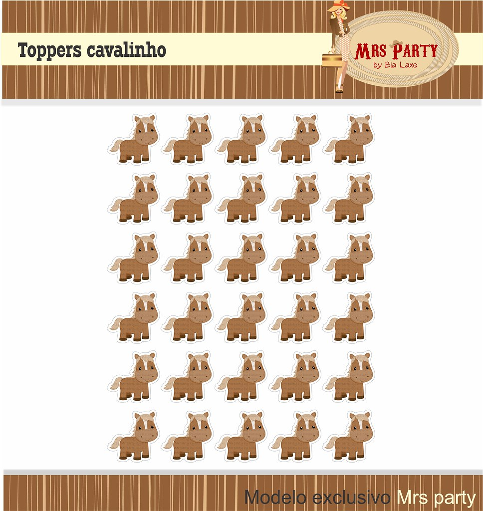 Party) Tags digital de cowboy tag infantil convite surpresa tac festa