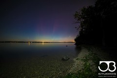Lake Mendota and Auroras, 8-26-15 Madison, WI (Yooper1981) Tags: sky lake water wisconsin night stars colorful pretty nightscape space nasa astronauts astrophotography aurora astronomy universe wi cosmic northernlights astrophoto lakemendota mindblowing astronomers auroraboreals