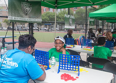 PAL Playstreets Opening Event at PAL Harlem Center. (NYCHA) Tags: summer playing children play harlem manhattan events july police games event summertime pal policeofficers nycha newyorkcityhousingauthority openingevent nychaphotographerleticiabarboza palharlemcenter palplaystreets policeandchildren childrenandpolice