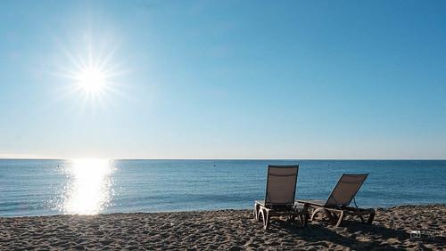 A la plage de Pampelonne