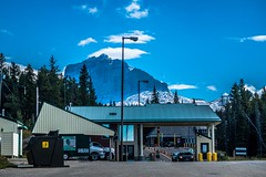 The Canada-US border crossing at Chief Mountain.