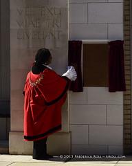 Unveiling of the plaque (© Freddie) Tags: london bermondsey se1 lbsouthwark oldjamaicaroad queens warmemorial rededicationqueensmemorial fjroll ©freddie