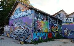 """A la friche"" Le Gabut, La Rochelle, 19-20 septembre 2015 (thierry llansades) Tags: painting graffiti graf spray graff larochelle aerosol bombing graffitis graffs graphisme grafs frenchgraff gabut legabut"