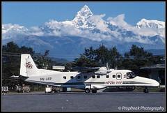 9N-AEP / PKR 11.1999 (propfreak) Tags: nepal pokhara pkr slidescan dornier do228 cosmicair do228201 propfreak abakanavia 9naep vnpk airlineofthemarshallislands mi8605