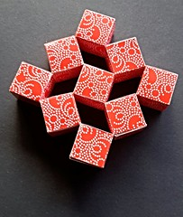 Wobbling Wall (modular.dodecahedron) Tags: modularorigami paperstrips heinzstrobl actionorigami