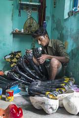 Preparatory work for Dussera@kulasai | Sep 2015 (Amudha HariHaran) Tags: painting hands kali goddess culture indianfestivals tuticorin dussera kulasekarapatnam kulasai multihands dussera2015 kulasai2015