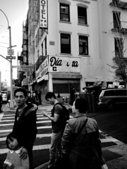Chinatown Now. Bowery at Hester. (sjnnyny) Tags: nyc urban monochrome blackwhite downtown cityscape locals neighborhood signage bowery grii stevenj manhattanstreets sjnnyny chiatownmanhattan