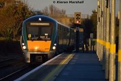 22053+22003 arrive at Newbridge, 7/11/15 (hurricanemk1c) Tags: irish train rail railway trains railways newbridge irishrail rok rotem 2015 icr iarnród 22000 22053 éireann iarnródéireann 3pce 1555heustongalway