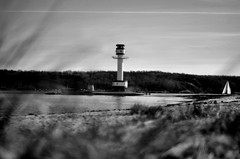 Leuchtturm Falckenstein (tbuering) Tags: bw lighthouse tower beach beacon kiel leuchtturm falckenstein