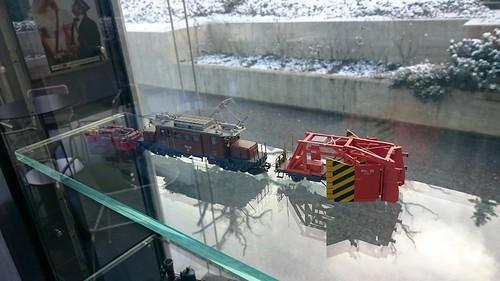 Modellbahn-RhB-Schneepflug