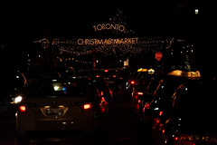 Market 2015 (archoneus) Tags: christmas toronto night lights traffic taxis distillery gooderham worts