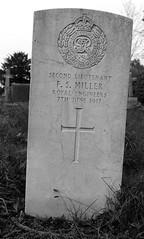CWGC Second Lieutenant F S Miller Royal Engineers (IanAWood) Tags: pinner londoncemeteries londonboroughofharrow walkingwithmynikon nikkorafs24mmf14g pinnercemetery nikondf